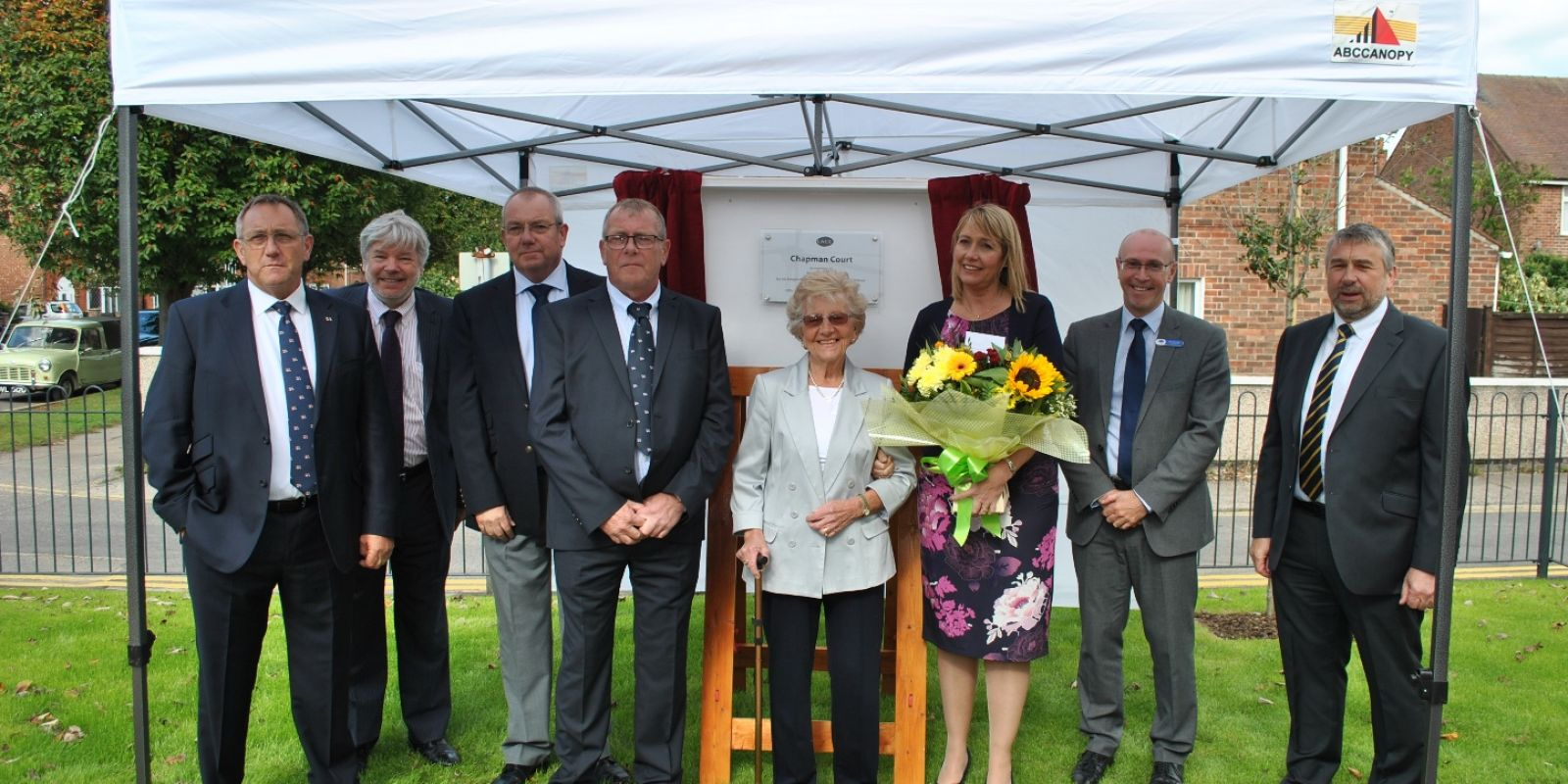 Guests and dignitaries at the opening of Chapman Court in Skegness