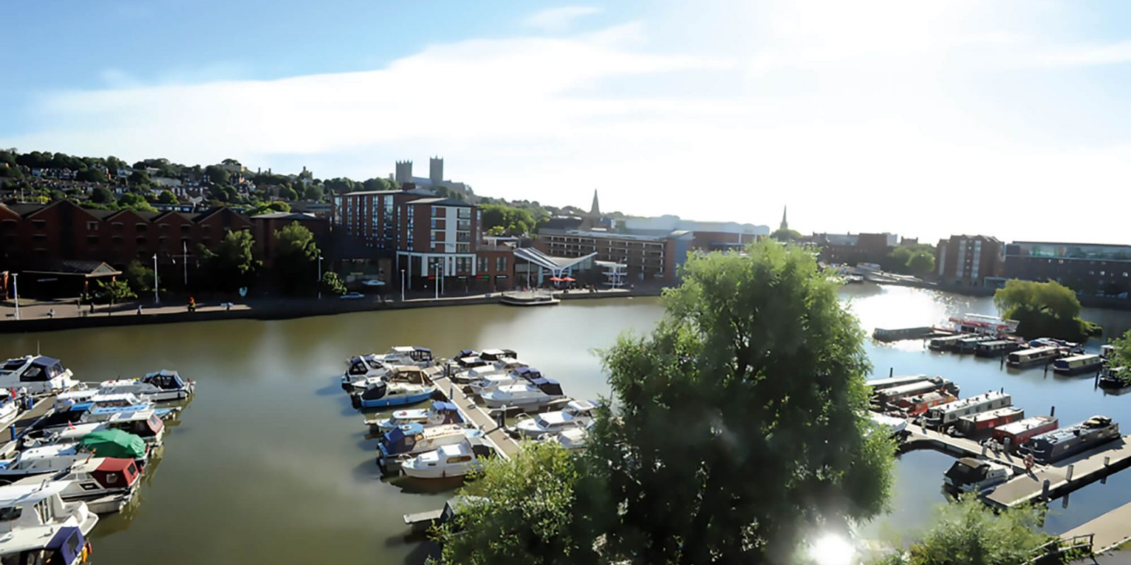 Lincoln Brayford waterfront and University