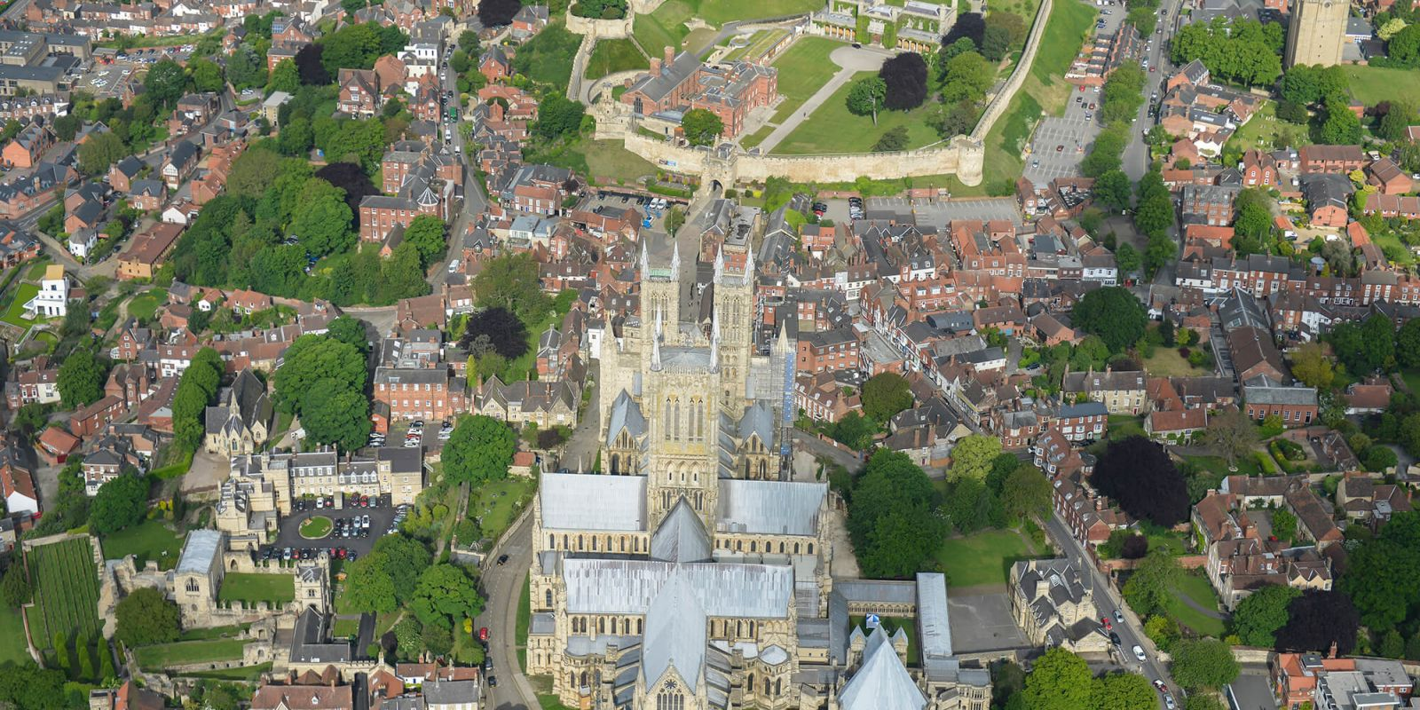 Lincoln Cathedral aerial view
