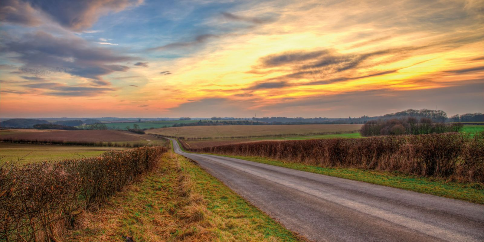 Lincs Country road