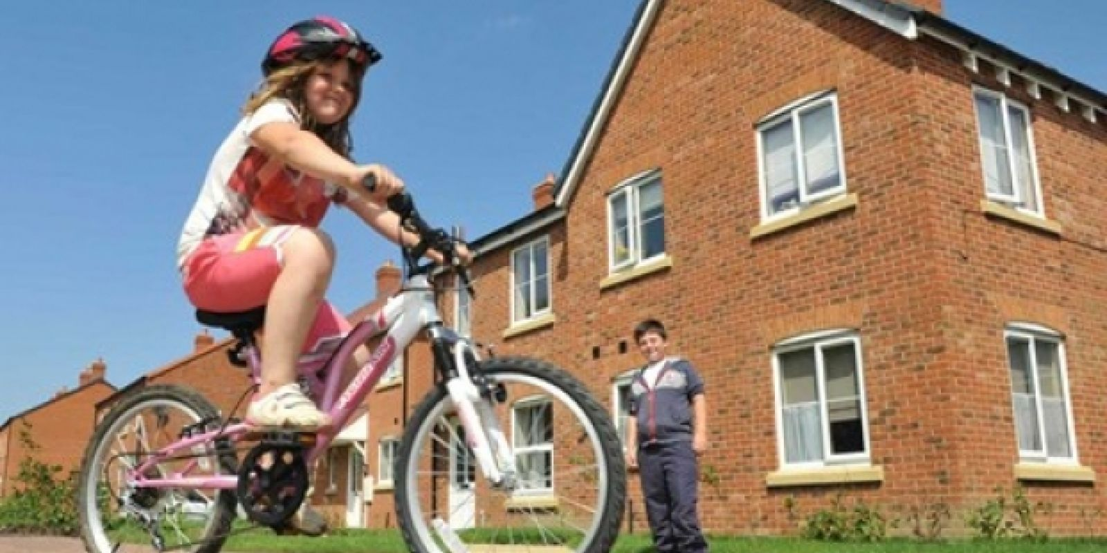Skegness girl on bike