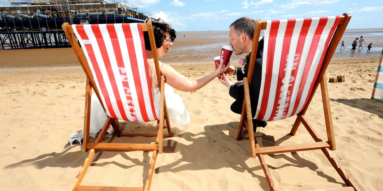 Lincolnshire beach deck chairs